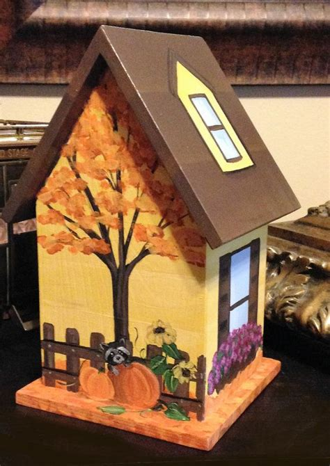 autumn painted birdhouse personalized fall bird houses painted bird house kits bird houses