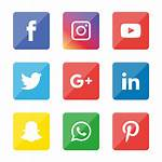 Social Icons Illustrator Icon Transparent Tiktok Snapchat