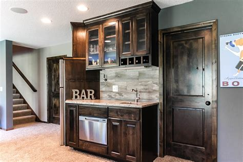 Basement Bar Cabinets by Custom Bar Plymouth Mn Franklin Builders