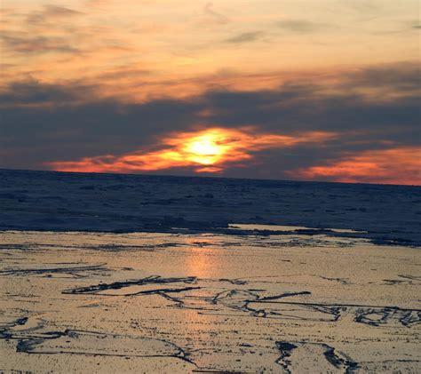 sunset  arctic background  background