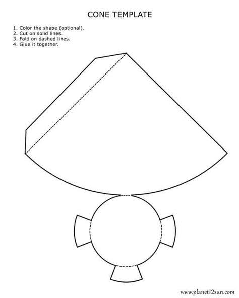 paper cone template 3d cone template free design templates