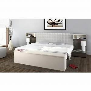 Tete De Lit Chevet : tete de lit 160 avec chevet dans lit adulte achetez au meilleur prix avec ~ Teatrodelosmanantiales.com Idées de Décoration