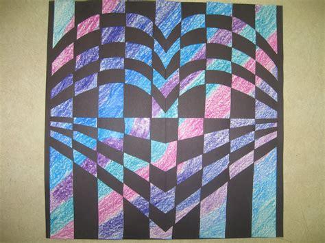 youngs art room  grade op art paper weaving