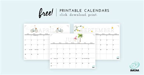 cute printable calendars  moms imom