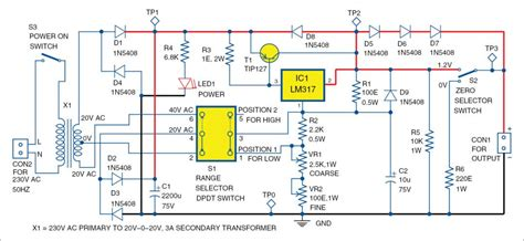 Designing Variable Power Supply Using