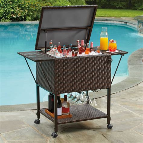patio patio cooler cart  outdoor party tools ideas