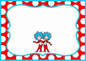 Gorgeous Dr Seuss Border Party Invitation Template ...