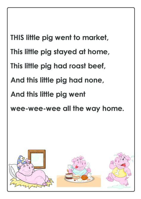 Little Piggy Nursery Rhyme by This Little Piggy Nursery Rhyme Kidspressmagazine Com