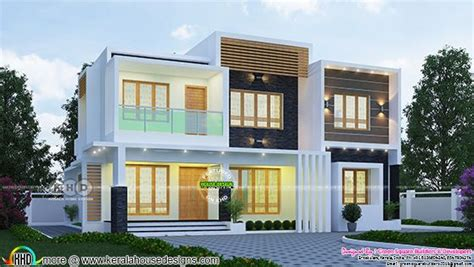 sq ft  bhk flat roof contemporary home plan kerala home design  floor plans