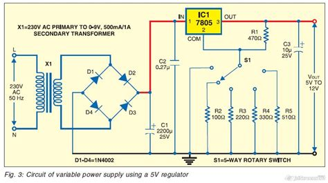 Variable Power Supply Using Fixed Voltage Regulator