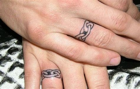 148 Sweet Wedding Ring Tattoos