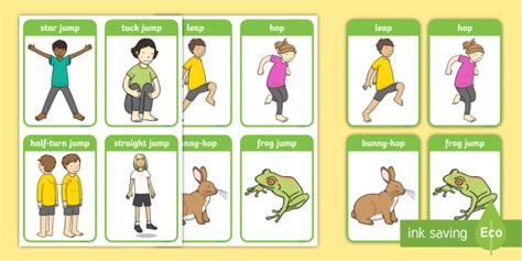gymnastic jumps display posters eyfs planning early years
