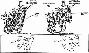 What Is The Order Or Diagram For Reinstalling The Serpentine Belt On A 1990 Ford F150 Truck