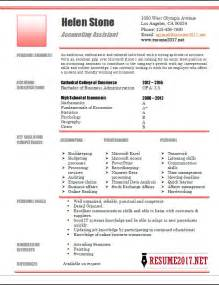 resume format accountant assistant accounting assistant resume template 2017