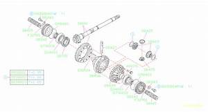 Subaru Svx Retainer Differential Side  Transmission  Driveline