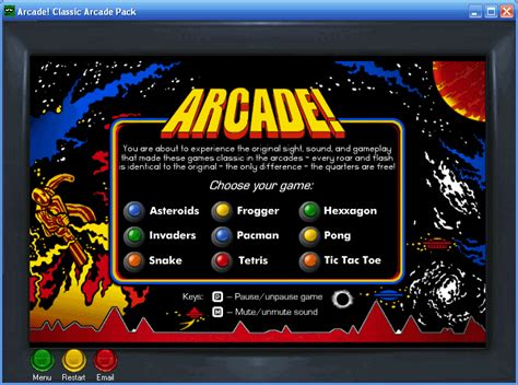 arcade classic arcade pack  screenshot freeware