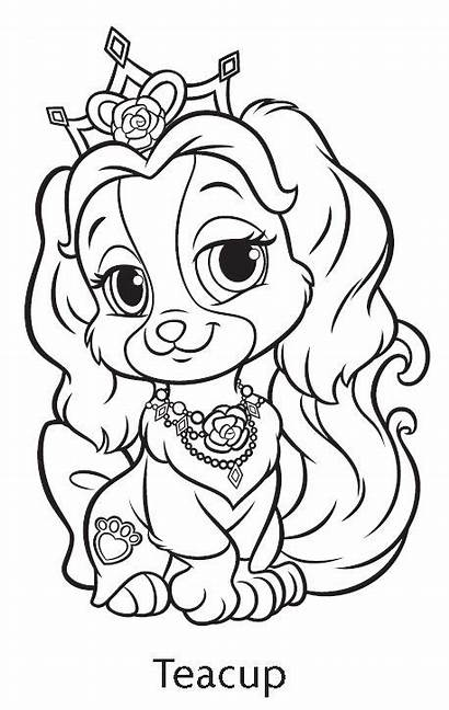 Palace Coloring Pets Pages Princess Teacup Disney