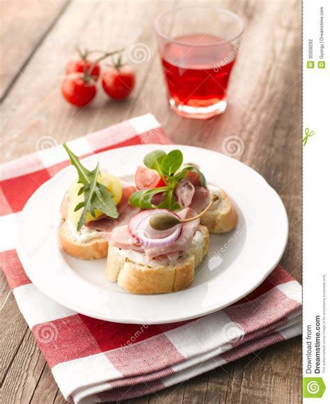 ham canapes turkey ham canapes stock photography image 30358292