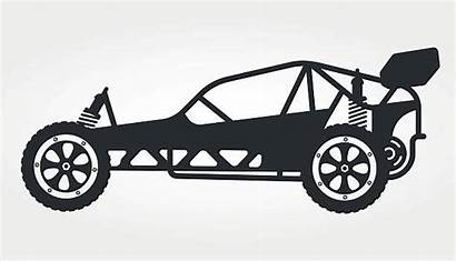 Rc Buggy Toy Vector Silhouette Illustration Clip