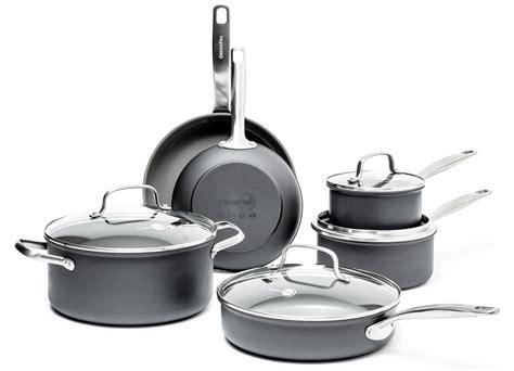 greenpan chatham nonstick cookware set  piece cutlery