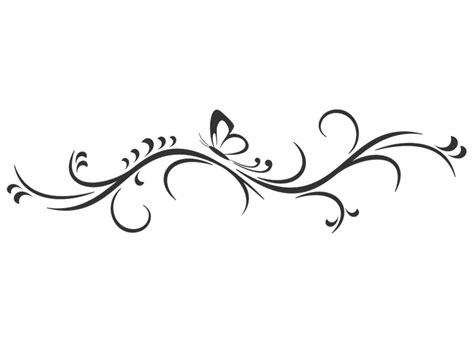wandtattoo dekorative ranke mit schmetterling wandtattoosde