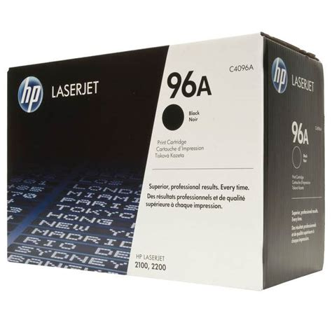 toner hp 96a black original hp c4096a 96a original toner cartridge