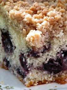 Place the cake pan on a baking sheet and bake about 50 minutes. Pine Cones and Acorns: Blueberry Coffee Cake with Crumble Topping