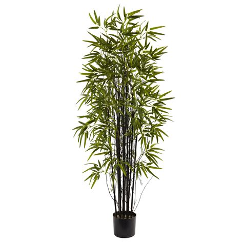 5 foot artificial black bamboo tree potted 5418