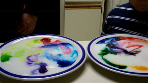 fun  science milk food coloring  dish soap youtube