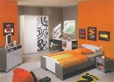chambre garcon chambre orange ado design de maison