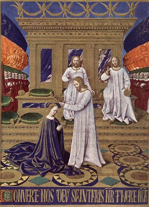 coronation   virgin  jean fouquet