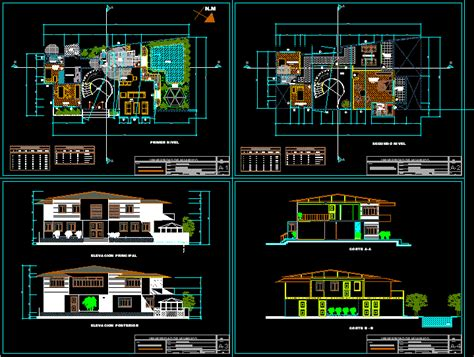 country house  dwg design section  autocad designscad