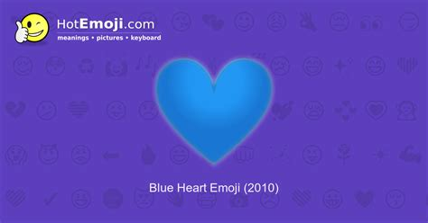 Blue Heart Emoji Meaning With Pictures