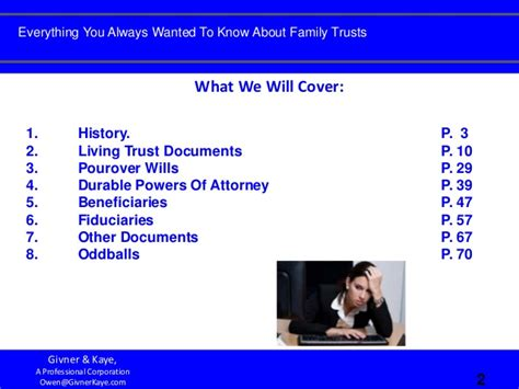 Everything You Always Wanted To Know About Family Trusts