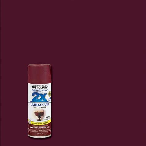 rust oleum painter s touch 2x 12 oz satin claret wine general purpose spray paint of 6