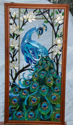 images  peacock stained glass patterns