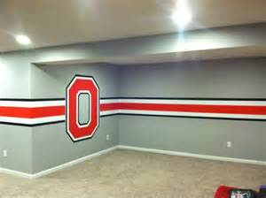 Basement Remodeling Before And After by Ohio State Themed Basement