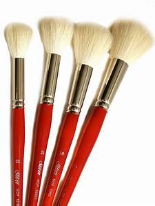 Silver Brush White Round/Oval Mop Brushes   MisterArt.com  Brush