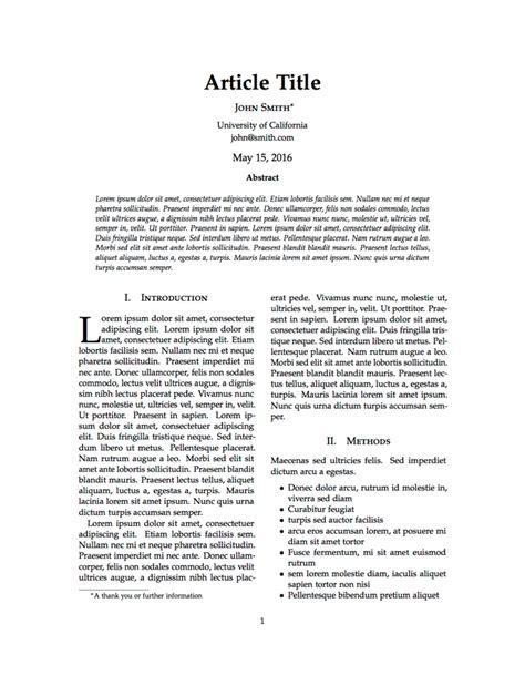 scientific paper template templates 187 articles