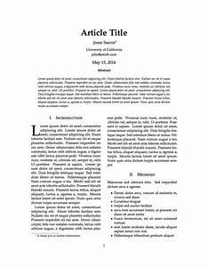 latex templates journal article With academic journal template word