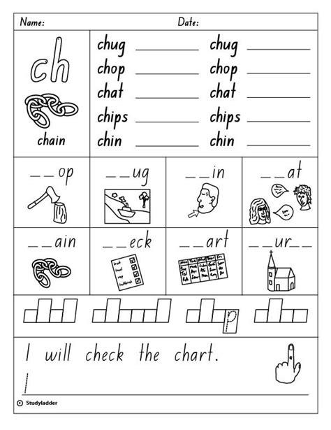 digraph ch worksheets for kindergarten digraph
