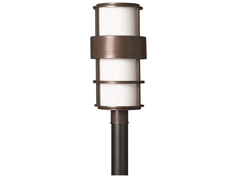 hinkley lighting saturn metro bronze led outdoor post