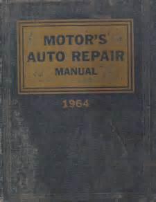 small engine repair manuals free download 2008 cadillac xlr v lane departure warning 1957 1964 motor s auto repair manual