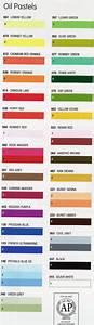 Daler Oil Pastel Colour Chart