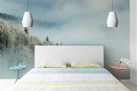 chambre foret papier peint chambre forêt enneigée izoa