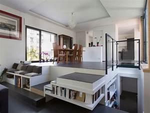 demi niveaux et patio pour une maison familiale construite With plan maison demi niveau 0 maison en demi niveaux detail du plan de maison en demi