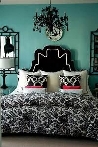 Teal, Black, U0026, White, Room, Cute