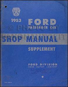 1953 Ford Car And Truck Service Specification Manual Original