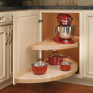 "Rev-A-Shelf ''Wood Classic"" Half-Moon Pivot and Slide 2"