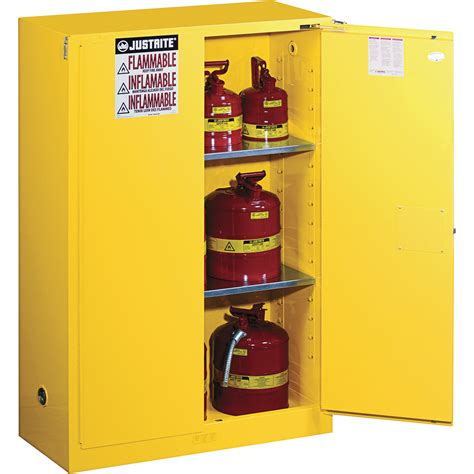 justrite safety cabinet 45 gallon self close sure grip